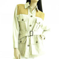 Vintage 1960s Tan Safari Blazer Jacket