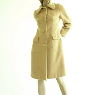 Vintage 1970's Fashion Bila Camel Wool Coat