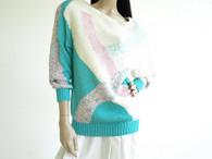 Vintage 1980's Nanneli Long Sherbet Sweater