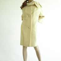 Vintage Cream Lilli Ann Mohair Coat