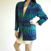 Vintage 1980s Christian Dior Silk Plaid Boyfriend Blazer