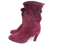 Vintage Air Step Burgundy Suede Slouch Boot
