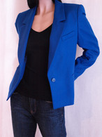 Vintage 1980&#039;s Giorgio Sant Angelo Cobalt Blue Blazer