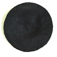 Vintage 1950's Saks Fifth Black Wool Beret Hat