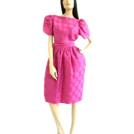 Vintage 1980s Oscar De La Renta Dress For Lillie Rubin
