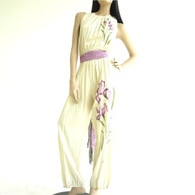 Vintage 1970/80's Tom Bezduda Cream Jumpsuit