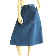 1970s Denim Skirt