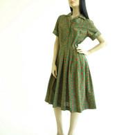 Vintage 1950's shirt dress at Borough Vintage