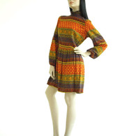 Vintage 1970s Dress Ethnic Boho Print at Borough Vintage.