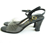 Vintage Amalfi by Rangoni See Through Slingback Heels at Borough Vintage.