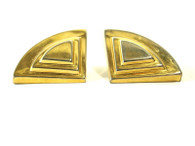 Gold Horizon Vintage Clip On Earrings