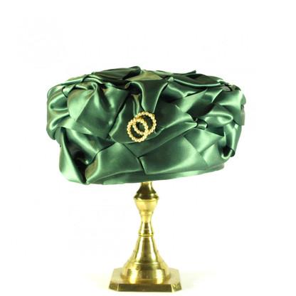 1960s Emerald Green Pill Box Hat