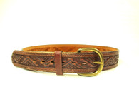 1970s Aztec Tooled Leather Belt