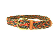 1970s Multi Color Braided Leather Belt