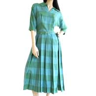 1940s Silk Dress