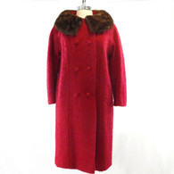 Red Boucle Coat