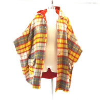 Red Plaid Reversible Cape