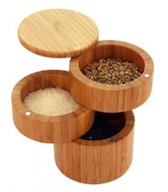 Space Saver - Three Compartment Salt Cellar (bamboo) by go lb. salt ® - store.golbsalt.com