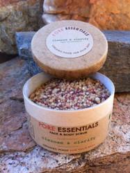 Pore Essentials™ - Cleanse & Clarify - face & skin scrub (retail product image) by go lb. salt ® - store.golbsalt.com