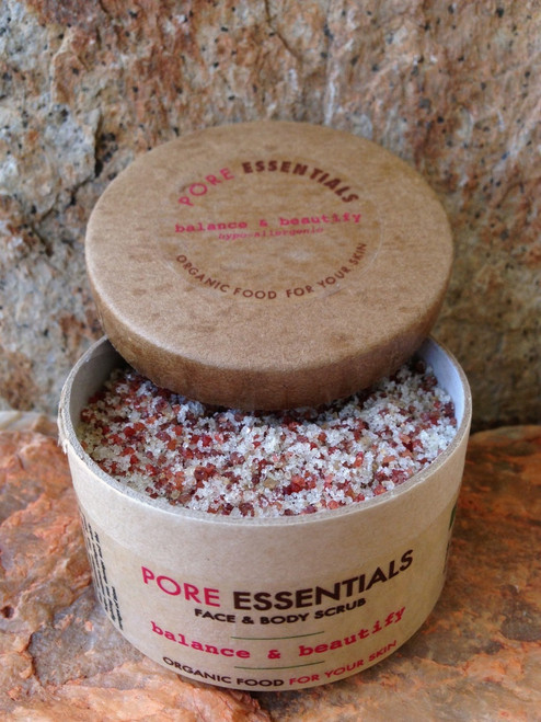 Pore Essentials™ - Balance & Beautify - face & skin scrub (retail product image) by go lb. salt ® - store.golbsalt.com