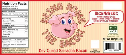 Bring Home The Bacon - Dry Cured Sriracha Bacon by go lb. salt ® - store.golbsalt.com