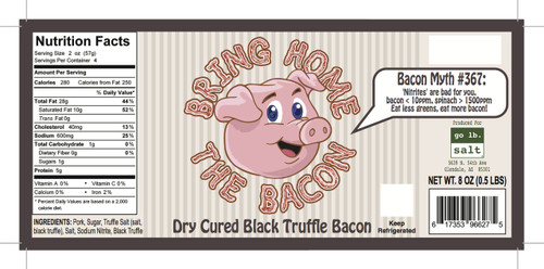 Bring Home The Bacon - Black Truffle Dry Cured Bacon by go lb. salt ® - store.golbsalt.com