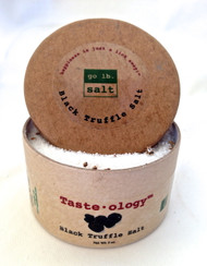 Taste·ology™ Black Truffle Salt (retail product image) - infused with real Black Truffle shavings (no chemical essence or aroma) by go lb. salt ® - store.golbsalt.com