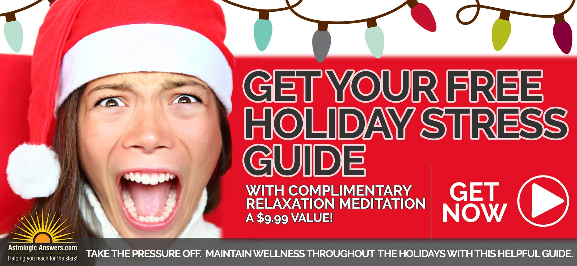 Free Holiday Stress Guide with Free Meditation Inage
