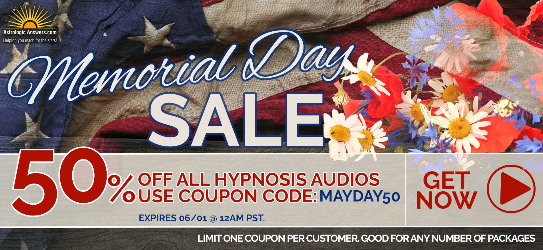 Click to go to the Memorial Day Sale!