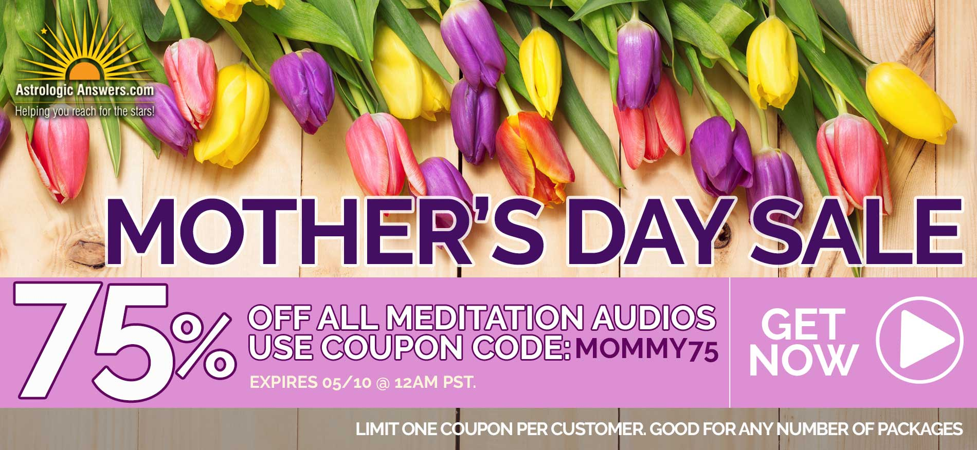 75% off Mother's Day Sale Image