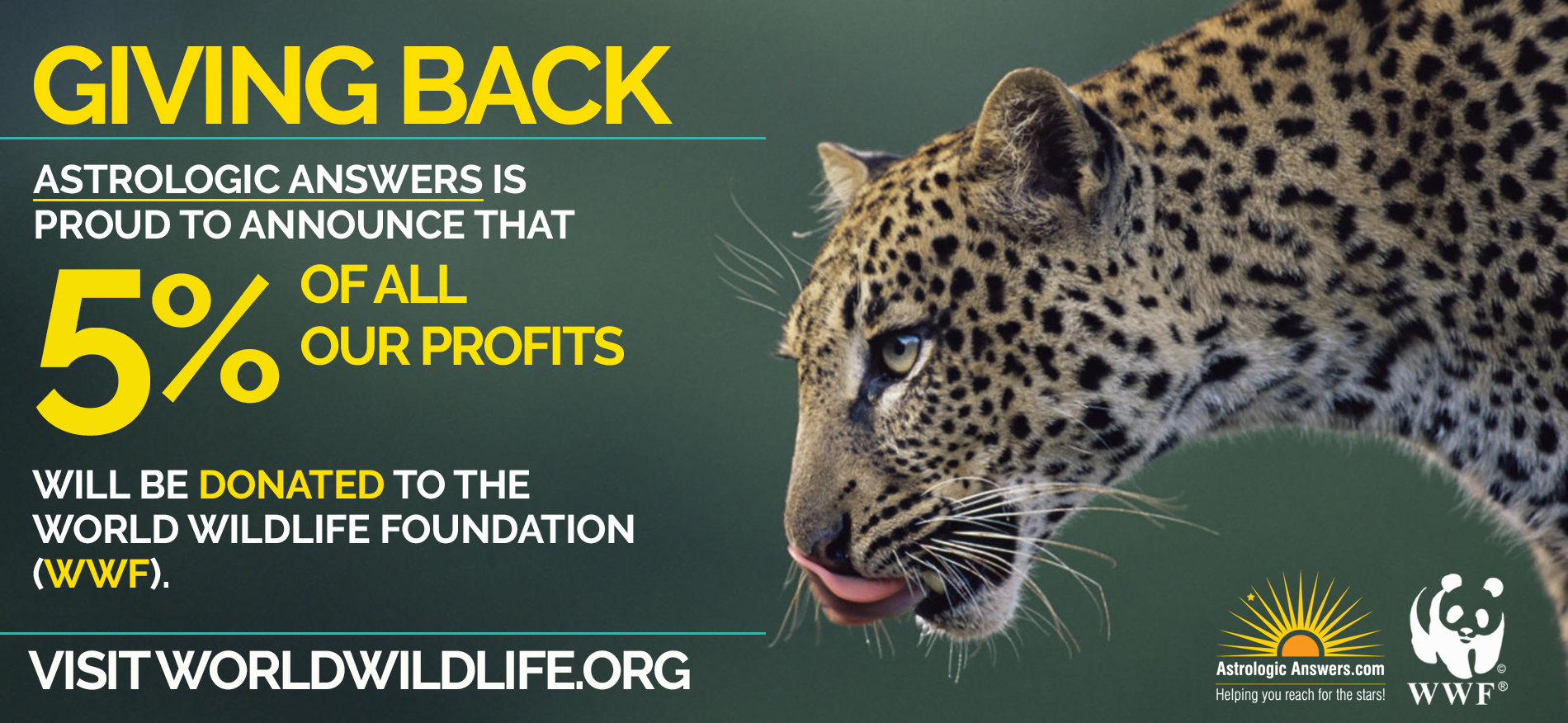 Giving 5% Back to WWF Image