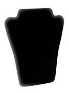 "Black Velvet Necklace Display Stand 6""x5"""