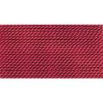 Griffin Silk Thread Garnet Size 10 0.90mm 2 meter card (21840)