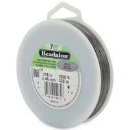 7 Strand Stainless Steel Bead Stringing Wire, .018 in, Bright, 1000 ft