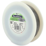 7 Strand Stainless Steel Bead Stringing Wire, .026 in, Bright, 1000 ft