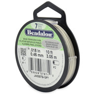 7 Strand Stainless Steel Bead Stringing Wire, .018 in, .925 Sterling Silver, 10 ft