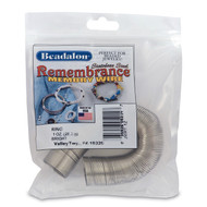 Remembrance Memory Wire, Round, Ring, Bright, 1 oz