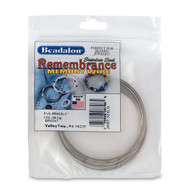 Remembrance Memory Wire, Round, Bracelet, XLarge, Bright, 1 oz