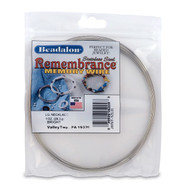 Remembrance Memory Wire, Round, Necklace, Large, Bright, 1 oz