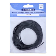 Beadalon Rubber Tubing 1.7MM x 5M (Black)
