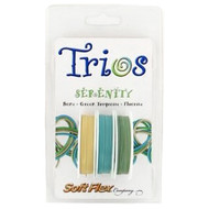 Soft Flex Trios Beading Wire Serenity Medium/ .019 dia. Bone/ Green Turquoise/ Fluorite 3x10 foot pack - each (6914)