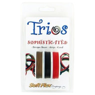 Soft Flex Trios Beading Wire Sophisticated Medium/ .019 dia. Antique Brass/ Black/ Coral 3x10 foot pack - each (6915)