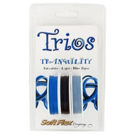 Soft Flex Trios Beading Wire Serenity Medium/ .019 dia. Tanzanite/ Lapis/ Blue Topaz 3x10 foot pack - each (6917)