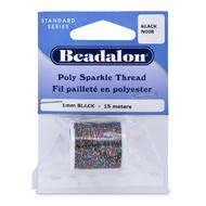 Poly Sparkle Thread 1mm Black 15m (38247)