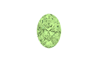 Cubic Zirconia - Oval Apple Green 7x5mm