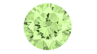 Cubic Zirconia Apple Green Round Brilliant Cut 8mm