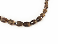 Smoky Quartz Facetted Oval Beads - by the strand