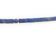 Lapis Bead Rondelle Flat - by the strand