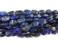 Lapis Bead 12x18mm Freeform Tumbled Facetted - by the strand