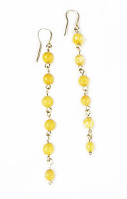 Yellow Baltic Amber and Sterling Silver Earrings